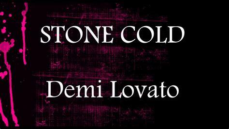 stone cold by demi lovato karaoke stone cold demi lovato lower key karaoke 3 youtube