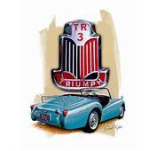 Triumph Tr 3 Sports Car In Blue