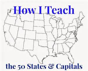 learning the 50 states their capitals and their map