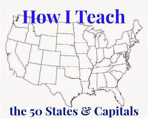 united states map with capitals and landforms learning the 50 states their capitals and their map