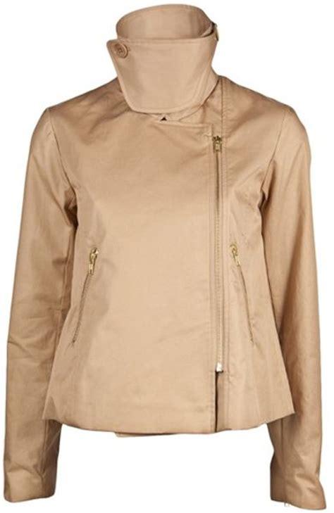 short swing jacket by malene birger short swing jacket in beige camel lyst