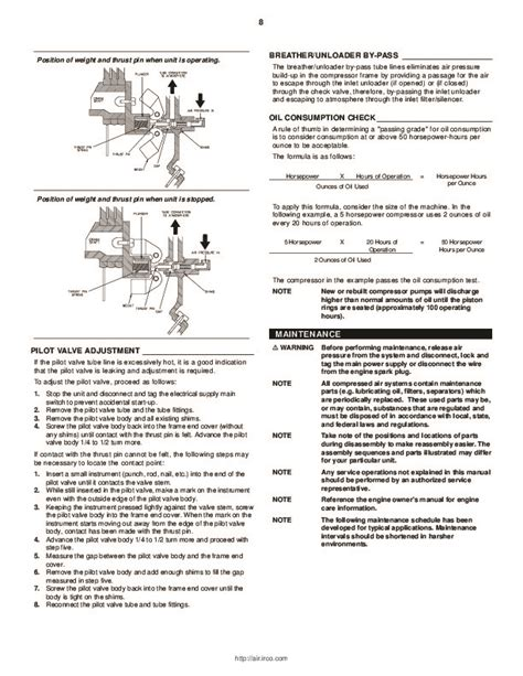 ingersoll rand 2340 2475 2545 7100 15t 3000 two stage air compressor owners manual