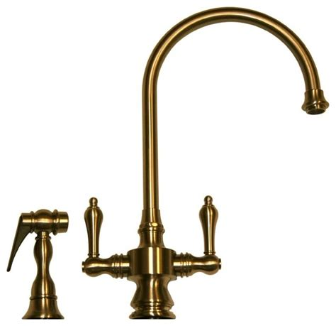 traditional kitchen faucet whitehaus vintage iii whksdlv3 8101 dual handle faucet 8 1 8 quot traditional kitchen faucets