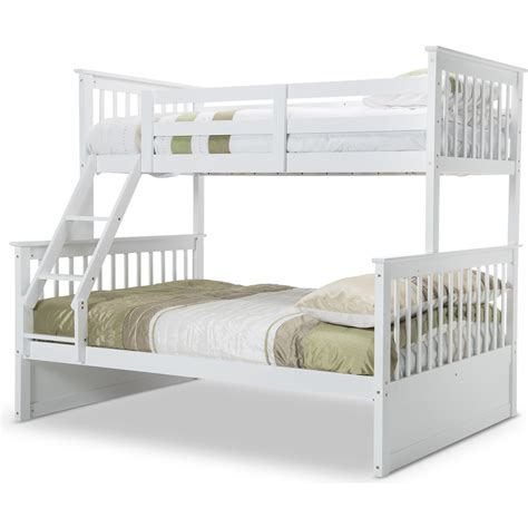 Single Size Bunk Beds Single On Size Bunk Bed In White Buy Bunk Beds