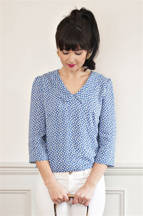 Blouse Pattern sew it susie blouse pdf sewing pattern sew it