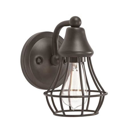 kichler vanity lights shop kichler bayley 1 light 7 72 in olde bronze cage