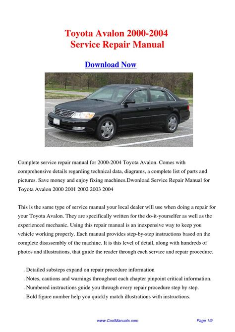 free online auto service manuals 1998 toyota avalon spare parts catalogs service manual download car manuals 2000 toyota avalon free book repair manuals 28 2006