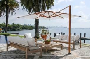 Cantilever Patio Umbrella Ideas Silver Pole With Brown Canopy Cantilever Umbrella For Your Patio Decor Idea Patio Aleksil