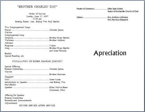 free templates for church bulletins church bulletin templates template business