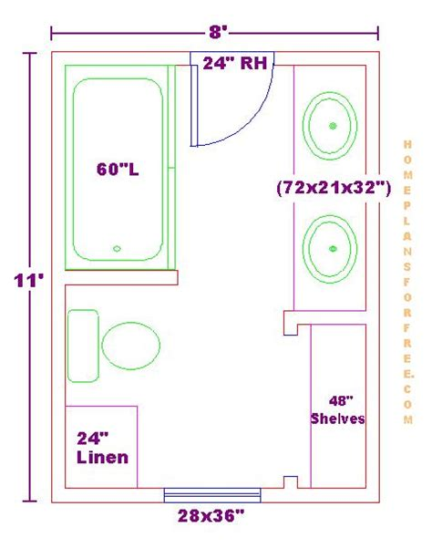 modify this one 8x11 bathroom floor plan with bowl vanity cabinet and linens bathrooms