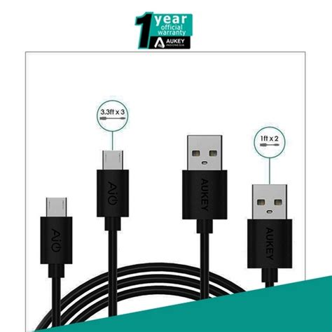 on sale aukey aukey cb d5 micro usb cable hitam 5 packs rp 125 000 kabel aukey dextra id