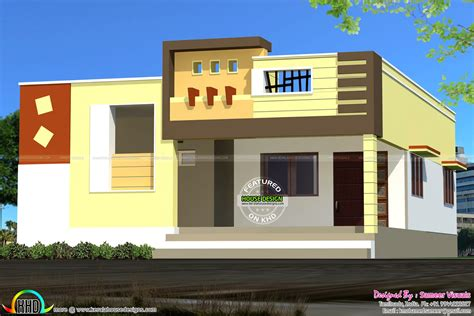 Floor House Elevation Photos Front Elevation Of Single Floor House Kerala With Plans Sq