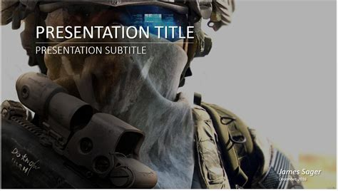 military powerpoint template 10730 free military