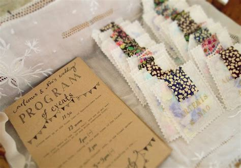 Handmade Wedding Programs - wedding ideas confetti