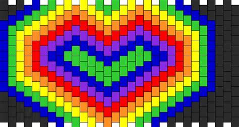 heart pattern rainbow rainbow heart pony bead patterns simple kandi patterns