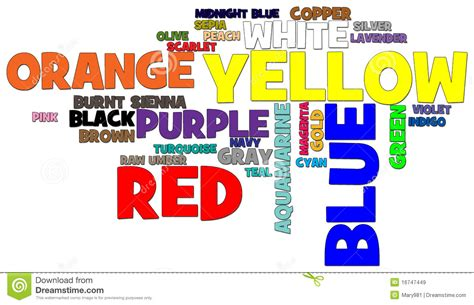 world of color time colors word cloud royalty free stock images image 16747449