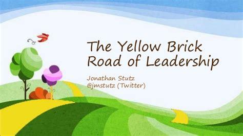 The Yellow Brick Road Of Leadership Lessons From The Wizard Of Oz Wizard Of Oz Powerpoint Template