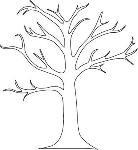Tree Stencil Template by Autumn Vanilla Picture Autumn Tree Stencil