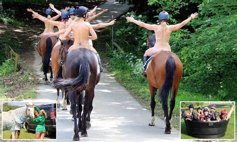 hot female jockeys female jockeys strip completely naked for charity calendar