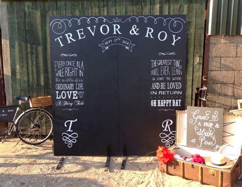 Wedding Backdrop Board by Chalk Boards Nerissa Weddings