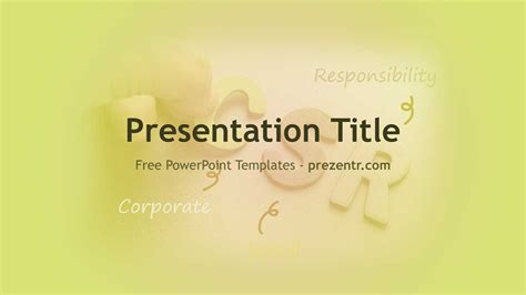 Free Corporate Social Responsibility Csr Powerpoint Template Csr Ppt Templates Free