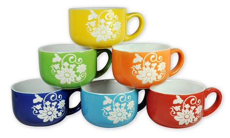 amazon set   large ceramic coffee soup mugs