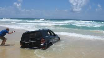 Mercedes In Island Mercedes 4wd A Write After It Sinks On Fraser Island