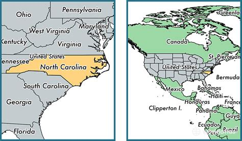 world map carolina where is carolina state where is carolina