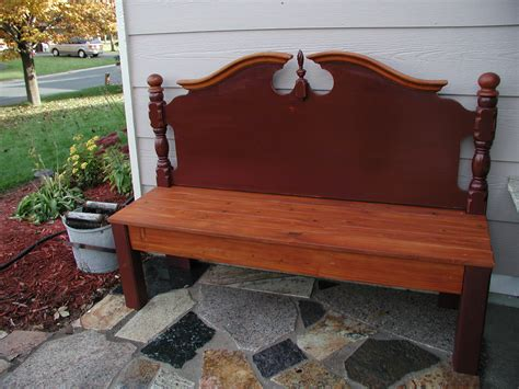 make a bench out of a headboard and footboard bench made from old headboard diy pinterest
