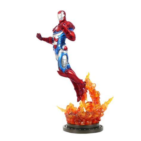 Sideshow Statue Iron Sale sideshow collectibles marvel iron patriot 12 inch statue merchandise zavvi