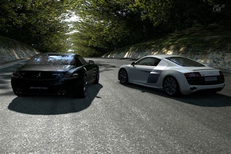 Audi Sls by Audi R8 V10 With Mercedes Sls Amg 7 By Iby786x On Deviantart