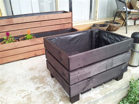 tree planter box stained in black my work pinterest