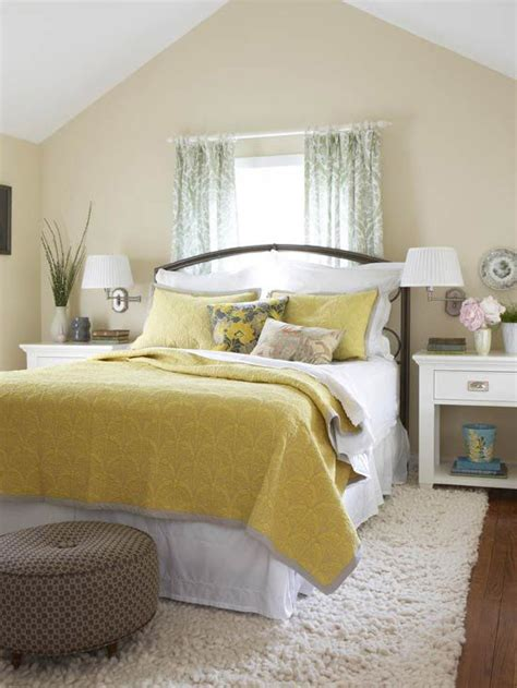 yellow bedroom walls yellow bedrooms we love brown ottoman yellow bed and