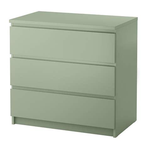 MALM Kommode med 3 skuffer   lys grønn   IKEA