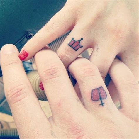queen ring tattoo king and queen wedding ring tattoo wedding ring tattoos
