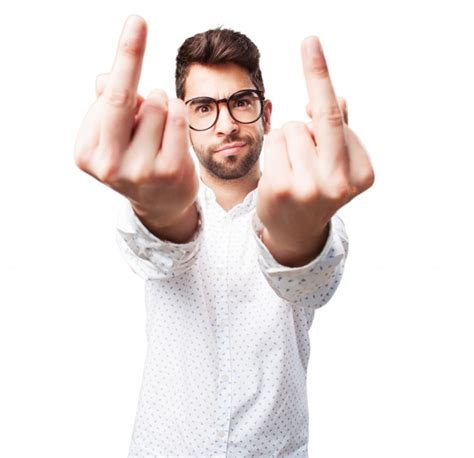 7 Things That Make Guys Upset by Angry An Obscene Gesture Photo Free