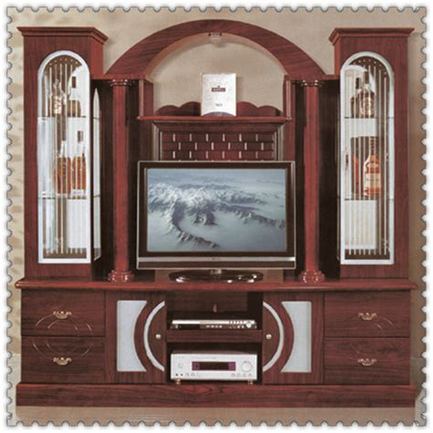 wooden showcase antique furniture wall showcase wooden mirrored cabinet
