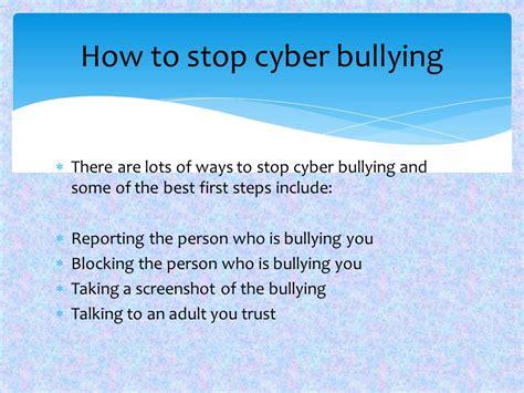 cyber bullying beat bullying ppt