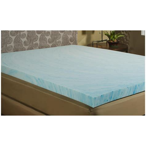 gel bed topper g flex 2 quot gel memory foam mattress topper 625848