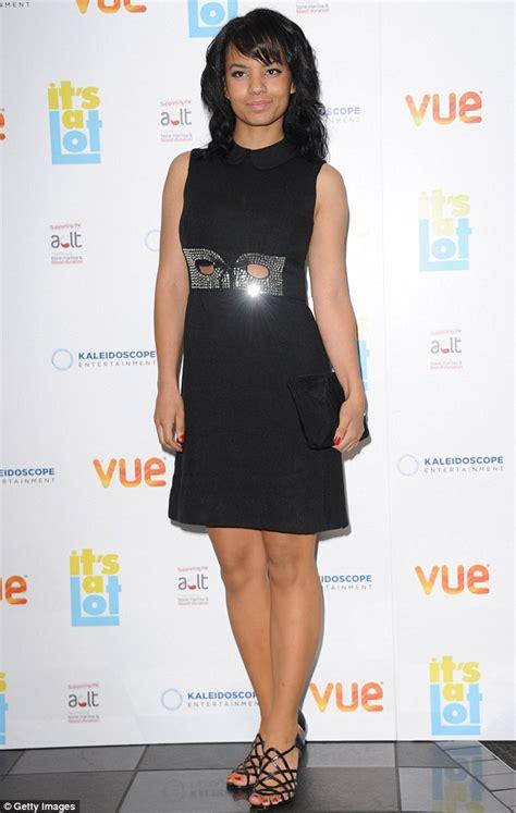 Faiza Dress Monochrome Maxi Gamis roxanne pallett gets it spot on in glamorous fringed dress