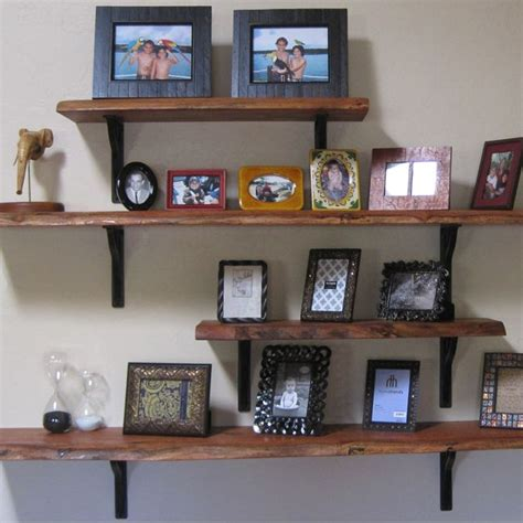 stacked wood kitchen shelves with iron brackets wooden stained shelves with iron brackets this might look