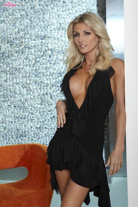 alicia secrets sliding off sexy black dress