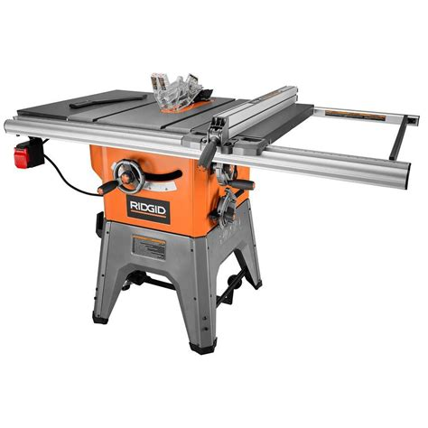 table saw ridgid 10 inch 13 cast iron table saw the home depot canada