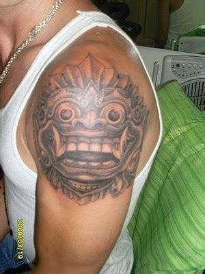 sket tattoo barong bali the art of tattoo balinese tattoo by abenk