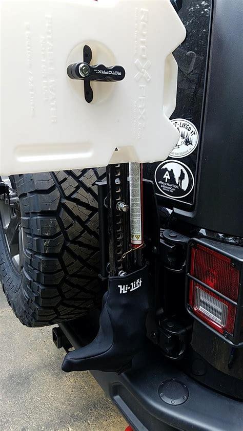 teraflex  hd hinged carrier  lift jack mount    jeep wrangler jk  hd hinged