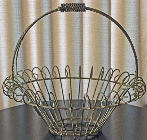 wire basket rustic chippy white wire basket patio decor