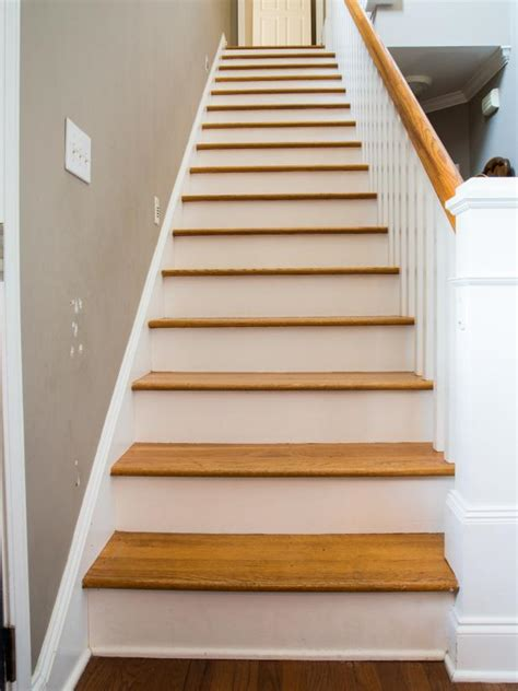 how to design stairs how to step up your stair risers with wallpaper hgtv