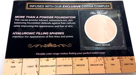 Faced Cocoa Powder Foundation ami s magic box review faced cocoa powder foundation
