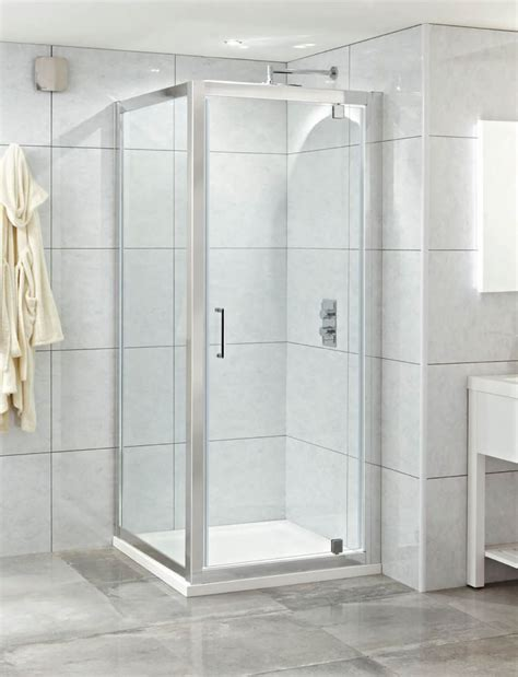 Phoenix Spirit 900mm Clean Glass Single Pivot Shower Door Pivot Glass Shower Door