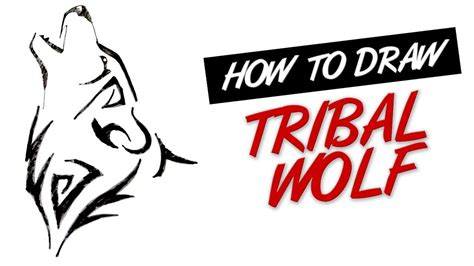 how to draw tribal wolf tattoo design 19 youtube